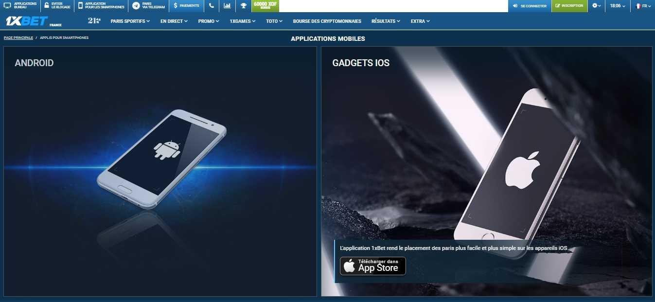 Télécharger 1xbet pour PC