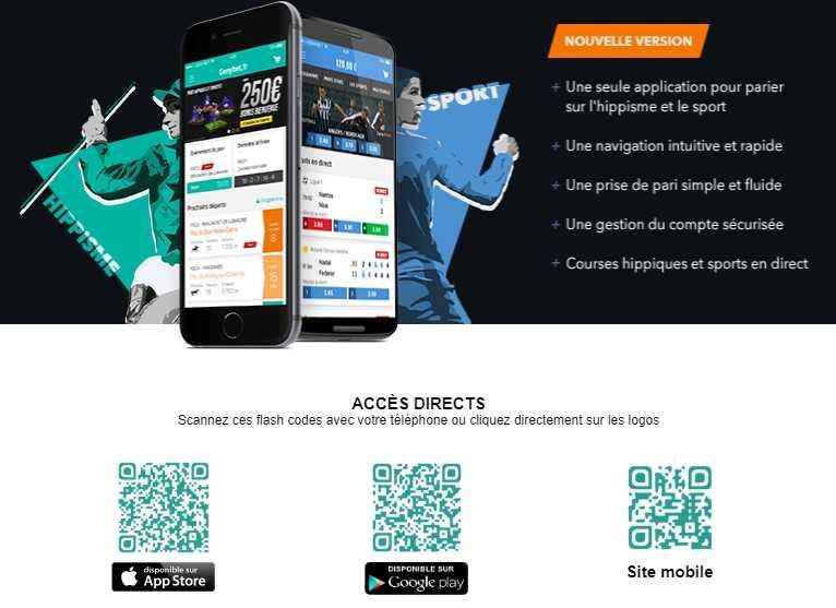 version mobile Genybet