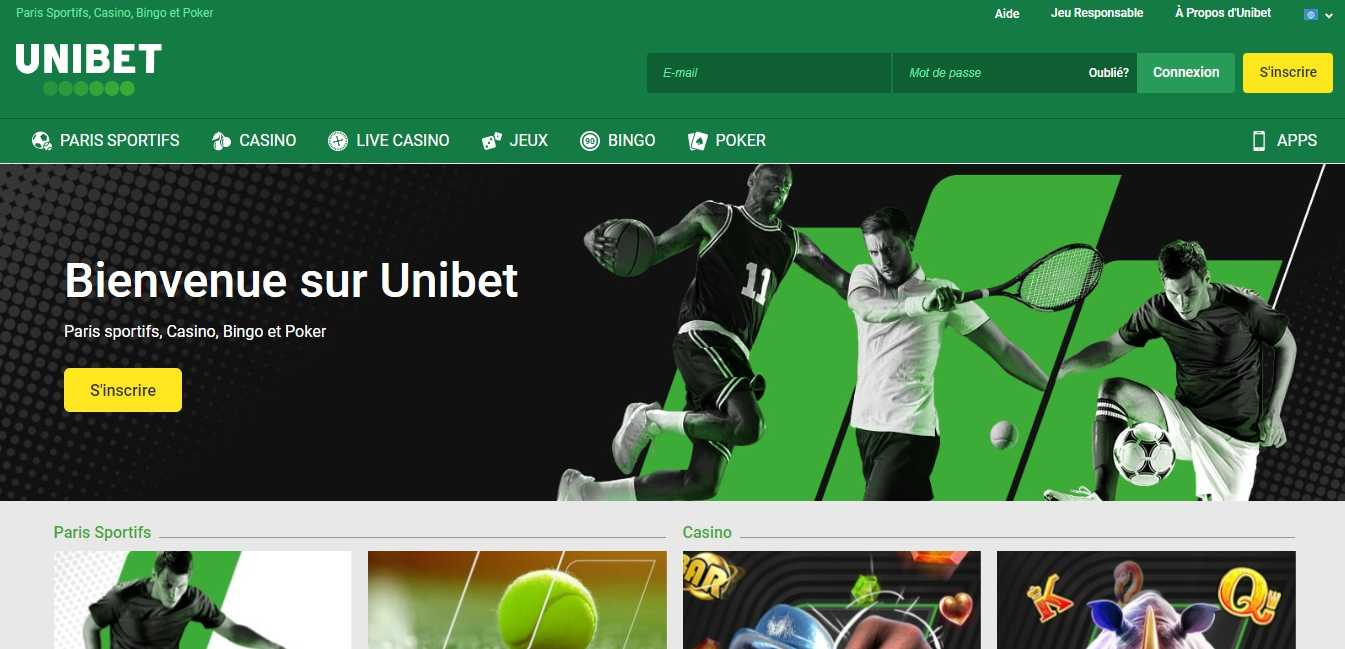 Unibet inscription